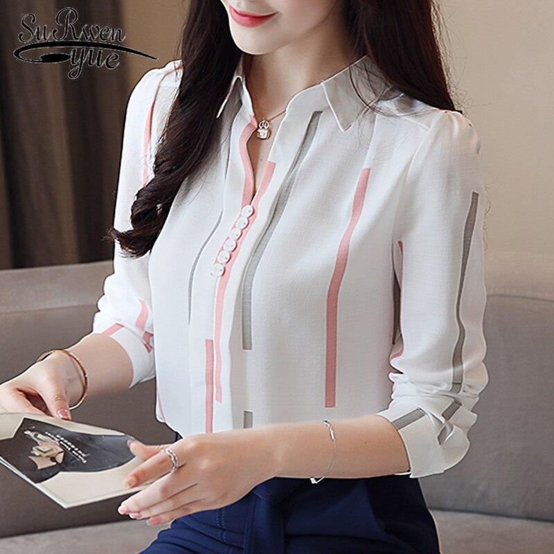 Moda mujer blusas 2019 primavera manga larga Camisas de