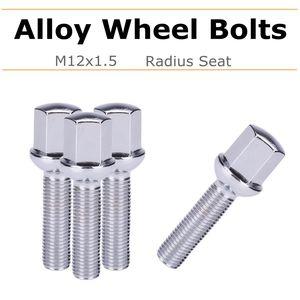 4x 17mm Car Alloy Wheel Rim Lug Bolts Nut M12x1.5 Hex Radius For Mercedes For Benz CLK W209 1992-2009