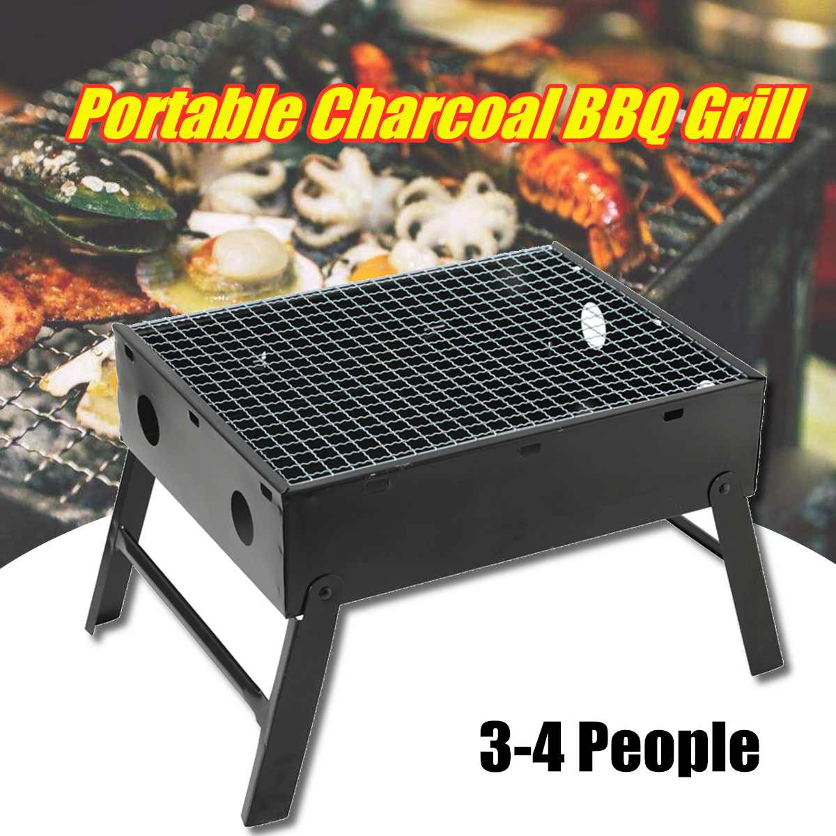 Portable BBQ Grill Folding Charcoal Barbecue Grills Camping Graden Outdoor Travel BBQ Tools Accessories Foldable CookwarePortable BBQ Grill Folding Charcoal Barbecue Grills Camping Graden Outdoor Travel BBQ Tools Accessories Foldable Cookware