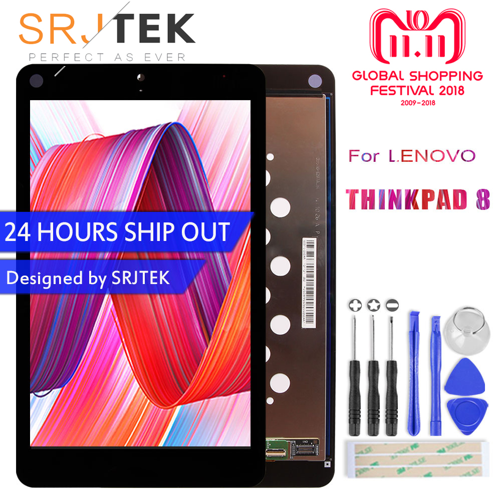 SRJTEK 8.3 LCD For Lenovo ThinkPad 8 ThinkPad8 For Windows 8.1 LCD Display Matrix Panel Screen Touch Screen Digitizer Assembly srjtek 8 inch lcd for huawei tablet t1 821l lcd display digitizer sensor replacement lcd screen 100% tested
