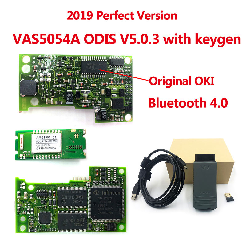 Newest VAS 5054A ODIS V5.1.3 Keygen OKI Full Chip AMB2300 Bluetooth 4.0 VAS5054A VAS5054 UDS For VAG Diagnostic Tool