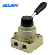 HV-200D RC1/4 Pneumatic switch three four-way hand rotary valve one to two manual air valve switch reversing valve