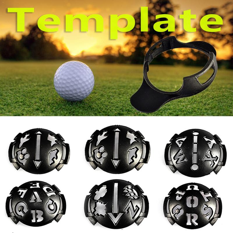 Golf Scribe Accessories Supplies Black Golf Ball Clip Liner Marker Pen Template Alignment Marks Tool Putting