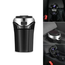 3 в 1 перезаряжаемая автомобильная светодиодная пепельница, автомобильный мусорный бак, съемный сигаретный светильник er, светодиодный светильник для автомобильного подстаканника