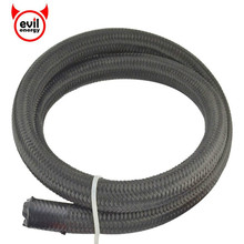 evil energy 1M AN4 AN6 AN8 AN10 AN12 Nylon Stainless Steel Hose Line Racing Hose Fuel Line Car Oil Cooler Hose Fuel Line Hose 1m 3m stainless steel braided brake gas oil fuel line hose an4 an6 an8 an10 new