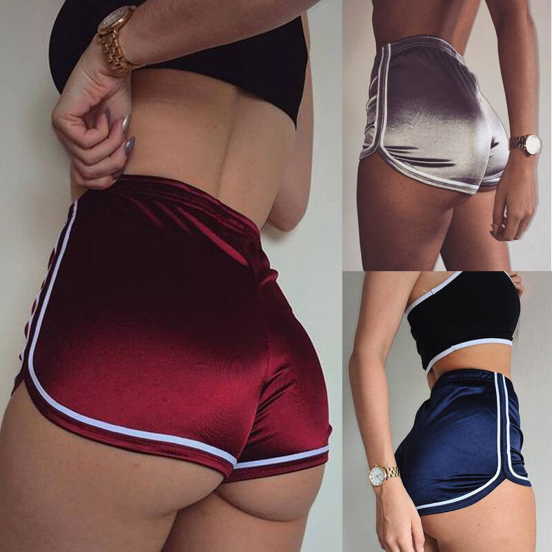 2019 New Women   Shorts   Summer Silky Slim   Short   High Waisted Casual White Egde Hot   Shorts   Summer Fashion Clothes