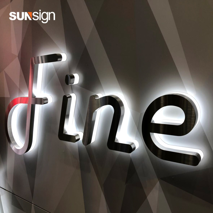 Custom Indoor And Outdoor Acrylic LED Light Letters Sign