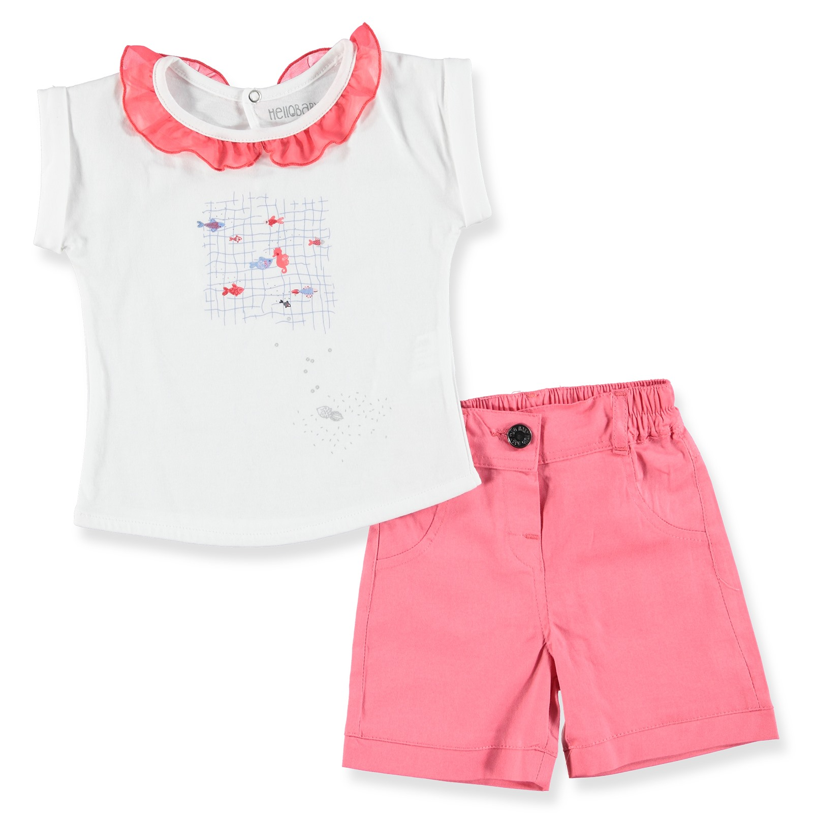 HelloBaby Fish Theme Baby Tshirt Short Set