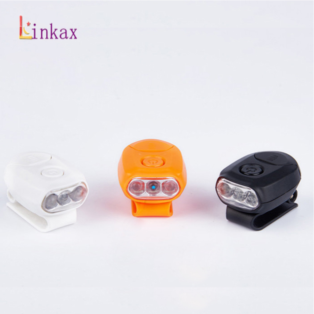 Mini 3 LED Headlamp Cap Light 90 Degree Rotatable Clip-on Hat Light Hands Free Bright Head Lamp Lantern Camping Cycling
