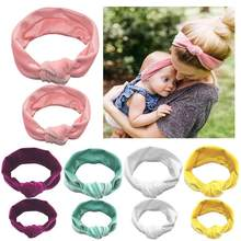 Baby Cotton Hair Band Gold Velvet Elastic Parent-child Knotted Hair Ring Headwear for Mom Kids Holiday Hair Band Accessories(China)