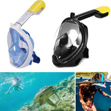 Cool Full Face Mask Surface Snorkel Scuba Go Pro Goggles Swimming Diving Breath Without Camera