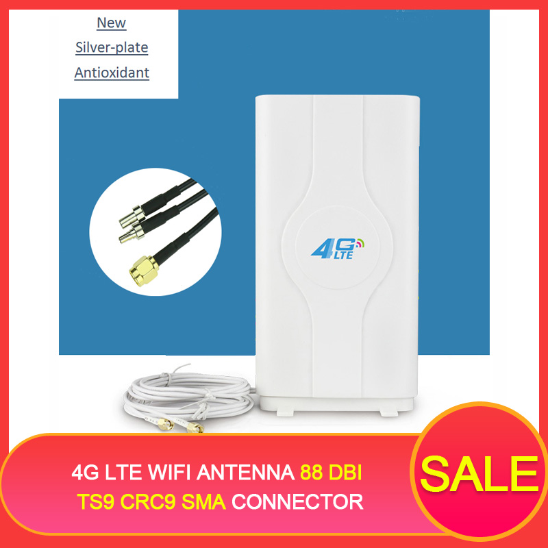 4G LTE Wifi Antenne 88 dBi TS9 CRC9 SMA Stecker Router externe MIMO Antenne Hause mit 2*2 m kabel für Huawei Router Modem