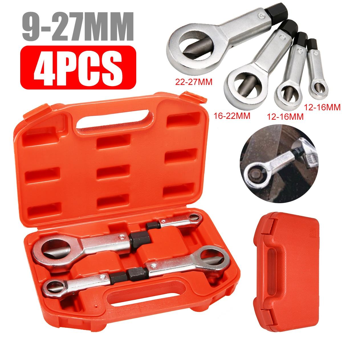4pcs 9 27mm Sliding Tooth Nut Remover Manual Pressure Tools Break Manually Metal Nut Break Nut