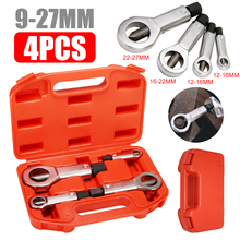 4pcs 9-27mm Sliding Tooth Nut Remover Manual Pressure Tools Break Manually Metal Splitter Cracker