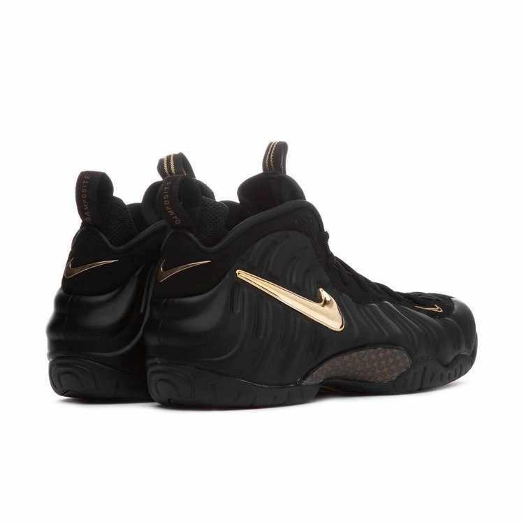 Nike Air Foamposite Preto Bolha Ouro Nova Chegada Confortável Almofada de Ar Dos Homens Tênis De Basquete Originais Sapatilhas #624041-009
