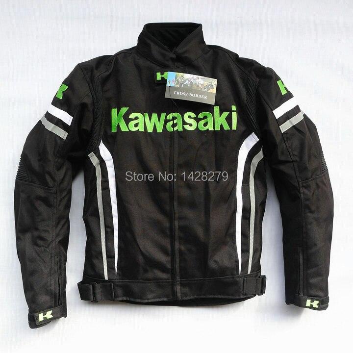Motorcycle Mens Riding Jacket for KAWASAKI Moto GP Racing Thermal Removable Lining Jacket with protectorsMotorcycle Mens Riding Jacket for KAWASAKI Moto GP Racing Thermal Removable Lining Jacket with protectors