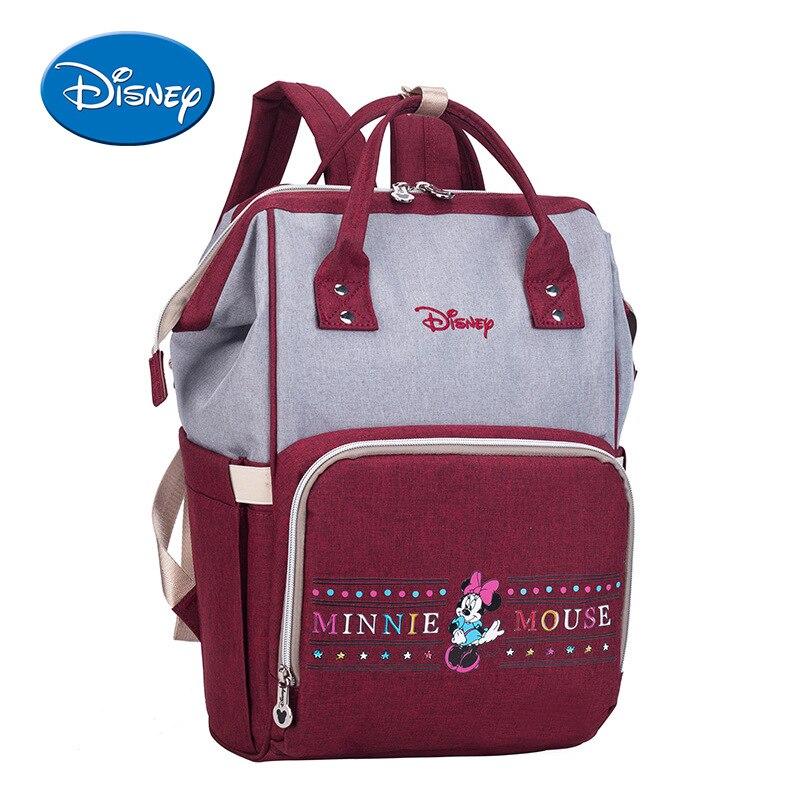 Disney Mickey Minnie Diaper Bags Stroller Handbag Travel Backpack Large Capacity Mummy Maternity Nappy Bag Baby