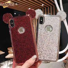 KISSCASE Bling Phone Case For Samsung S9 S8 Plus S6 S7 Edge Cute Rabbit Ear Cases For Galaxy S6 S7 S9 S8 Fundas Capinha Capa gear vr 4 0 r323 virtual reality glasses support samsung galaxy s9 s9plus s8 s8 s6 s6 edge s7 s7 edge gear remote controller