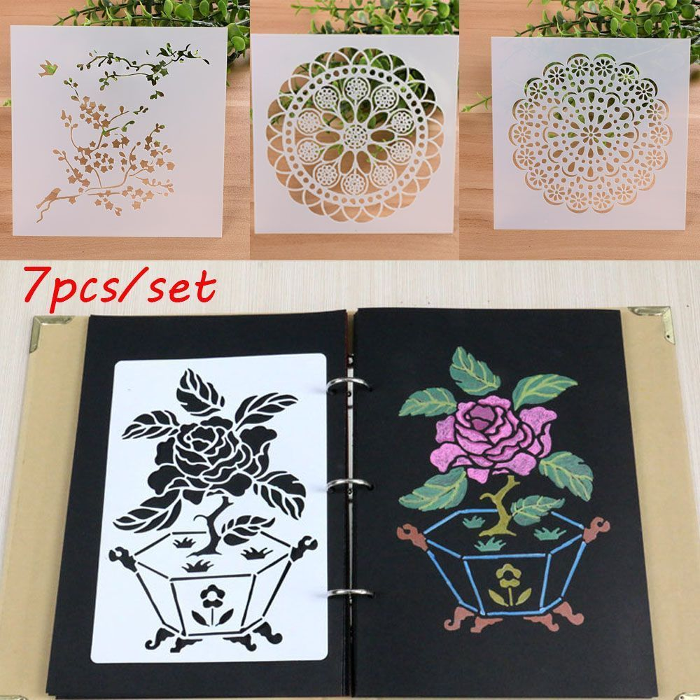 Stamps Arts,crafts & Sewing 7pcs/set Diy Craft Layering Stencils For Walls Painting Scrapbooking Stamp Album Decor Embossing Paper Card Template Wholesale Moderate Cost