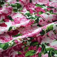 Tingimento reativo rosa rosa crianças tecido de algodão para o vestido tissus tecido telas chiques shabby tissu africano bazin riche getzner tela