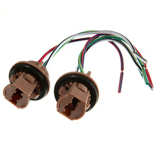 Mayitr 2Pcs T20 7440 7443 LED Car Light Bulbs Holder Socket Plug Adapter Wiring Harness Connector Styling