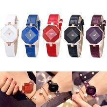 Fashion Luxury Watch Brand Wrist watch Octagonal Rhombus Casual Bracelet Quartz Women Montre Femme Quart watche