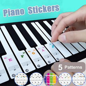 61/88 Transparent Key Piano Ke
