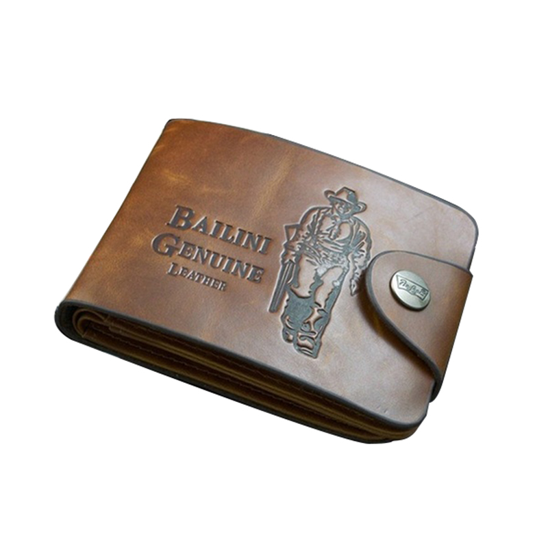 TFTP-BAILINI New Men's Boys' Classic Leather Pockets Credit/ID Cards Holder Purse Wallet AP (Color: Coffee)