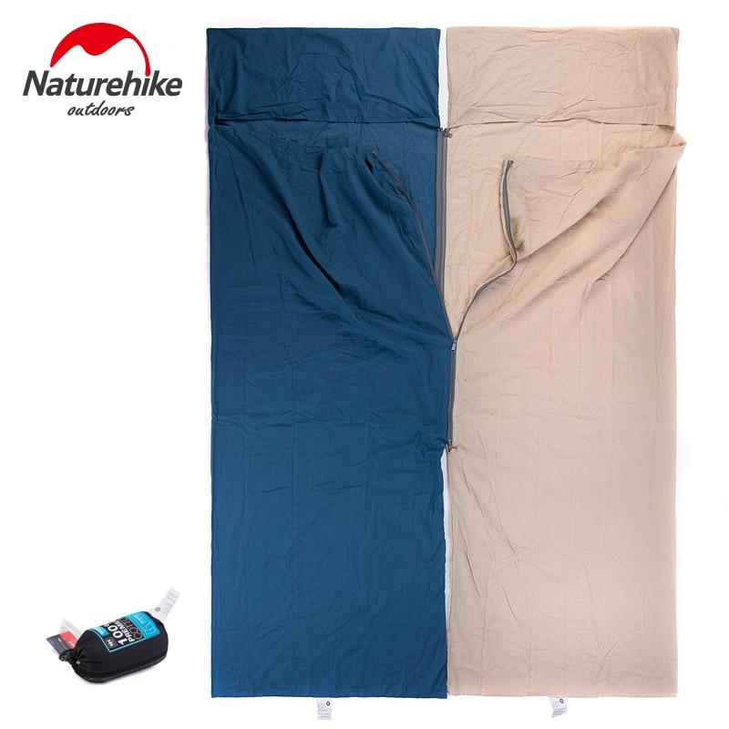 Image 2 - Naturehike Envelope Sleeping Bag Liner Cotton Ultralight Portable Camping Sheet Hiking Outdoor Travel Portable Hotel DirtySleeping Bags   -