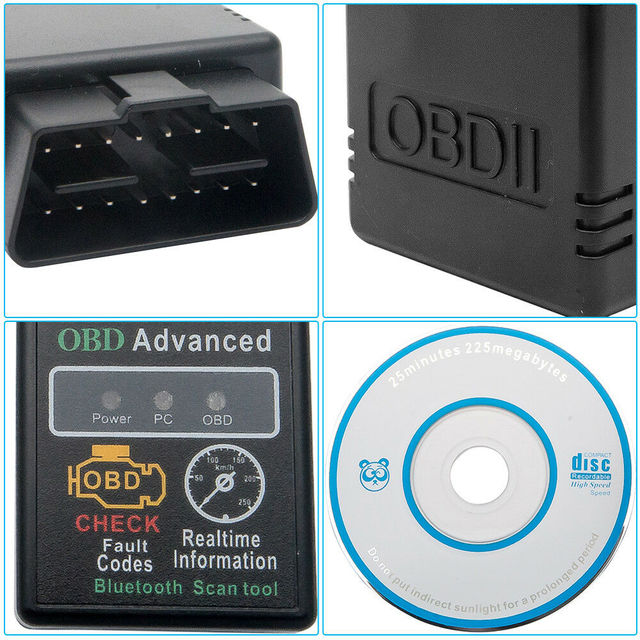 OBD2 Auto Code Reader Adapter Android Check Engine Bluetooth OBD Torque V2.1