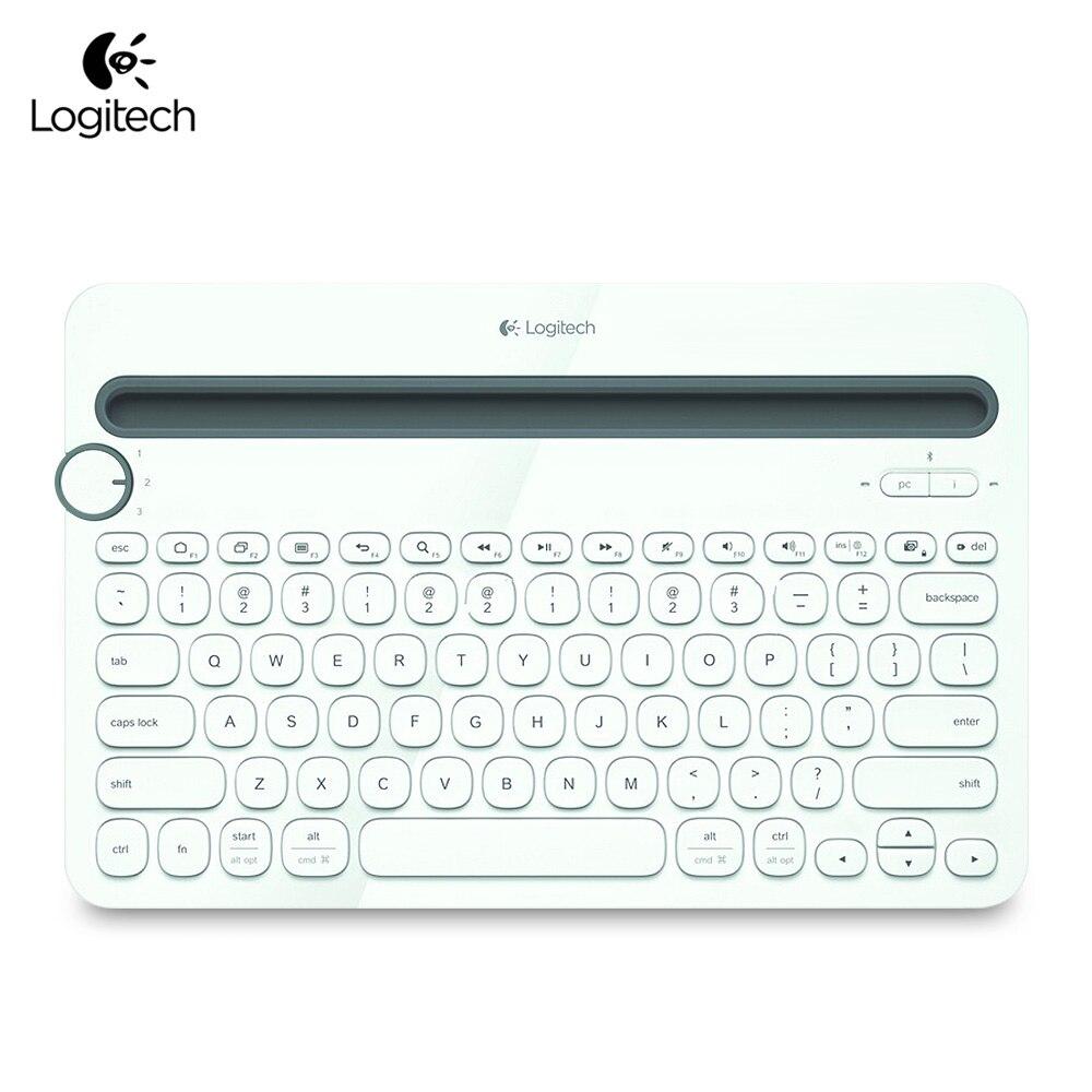 Clavier Bluetooth sans fil Portable Ultra-mince Logitech K480 pour Windows Mac OS iOS tablette téléphone intelligent Android