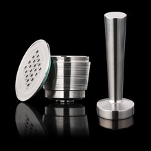 1 Capsule Tamper Stainless Steel Nespresso Reusable With Press Coffee Refillable Capsules Pods