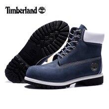 93f380a7e0f2 Оригинал timber LAND Man 10061 синие Зимние ботильоны, мужские серебристые  металлические натуральная кожа уличная теплая