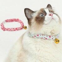 Товары для домашних животных котенок маленький колокольчик воротник для лошади воротник шеи прекрасный свежий стиль Цветочный котенок оже...