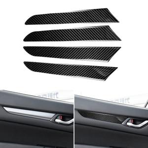 4 шт., Стайлинг автомобиля, внутренняя панель для окон и дверей из углеродного волокна, защитная накладка для Mazda CX-5 CX5 CX 5 2017 2018
