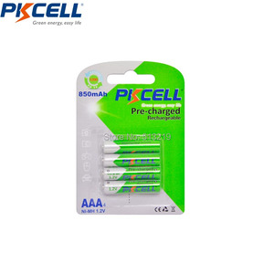 4PCS PKCELL 1.2v 850mah AAA NI-MH battery Low Self Discharge battery AAA rechargeable batteries NIMH 3a for flashlight toys