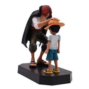 Image 3 - Anime une pièce quatre empereurs Shanks chapeau de paille Luffy PVC figurine daction aller joyeux poupée modèle à collectionner jouet cadeau de noël