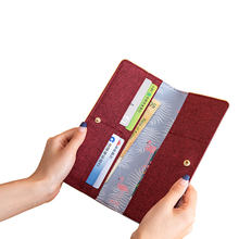 Fresh Lovely Girls Popular Travel Accessories Pu Leather Long Design Passport Wallets With Cards Holders(China)