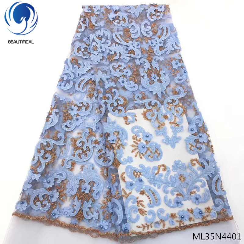 BEAUTIFICAL nigeria lace fabric 2019 beads stones new french tullle fabric net lace with beads french fabric ML35N44BEAUTIFICAL nigeria lace fabric 2019 beads stones new french tullle fabric net lace with beads french fabric ML35N44