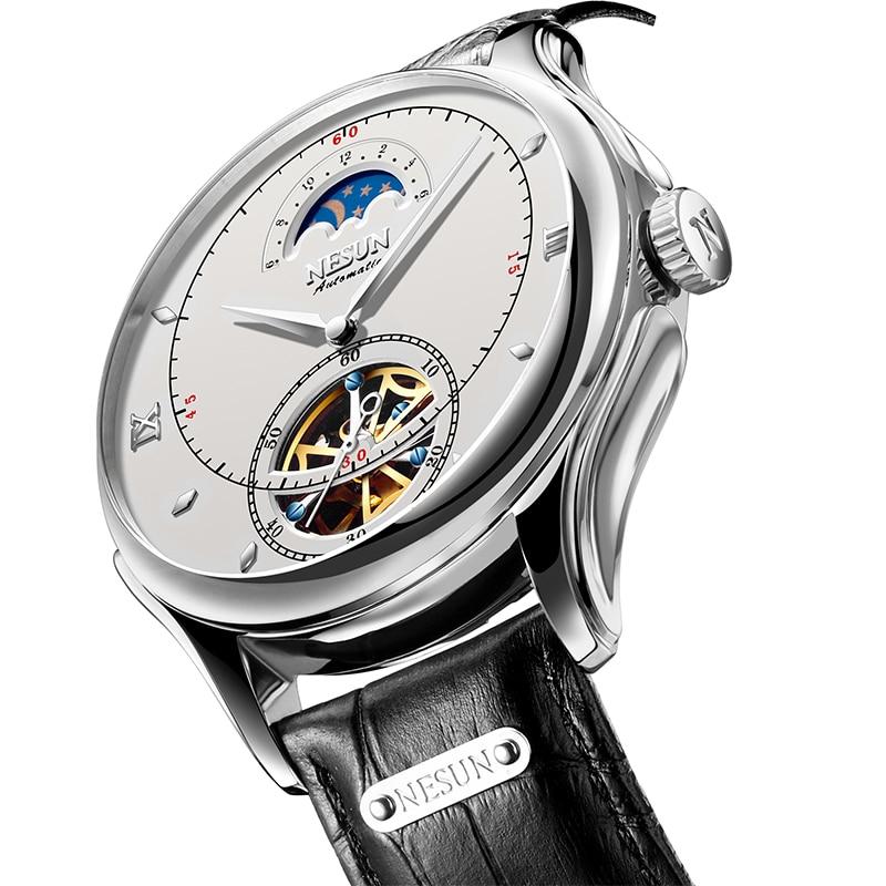 Schweiz Luxus NESUN Top Marke Automatische Mechanische Uhr Männer der Sport Skeleton Uhren Wasserdichte Männliche Uhr Montre Homme-in Mechanische Uhren aus Uhren bei  Gruppe 1