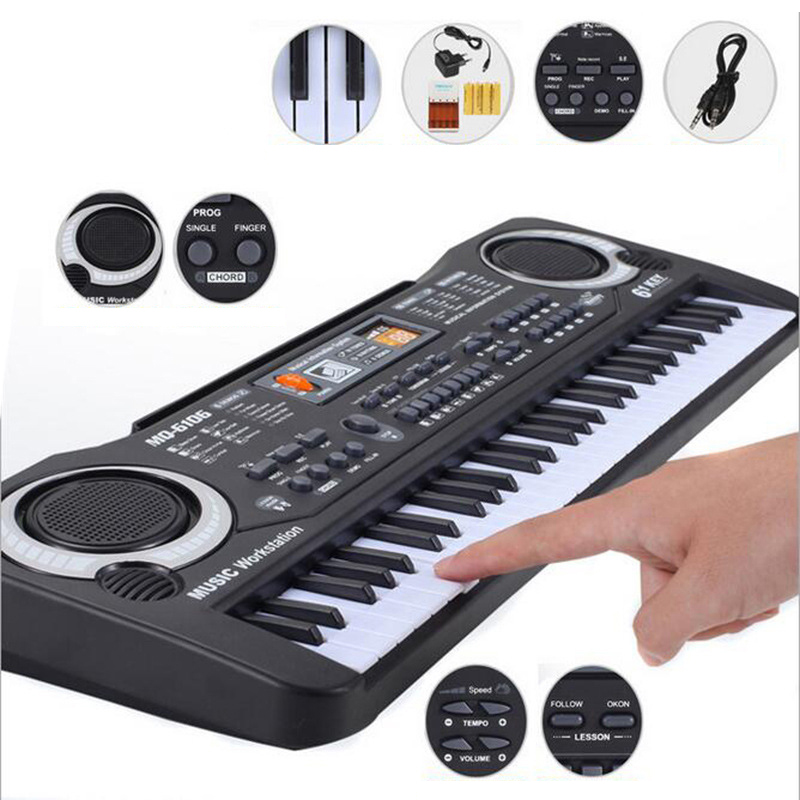 61 chaves Placa Tecla Do Teclado de Música Eletrônica Digital Piano Elétrico Caçoa o Presente Novo