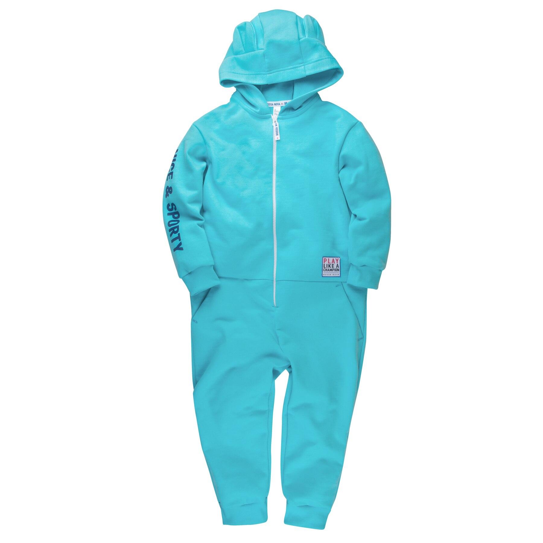 Hooded jumpsuit for girls BOSSA NOVA 500B-462b kid clothes pants for girls bossa nova 487b 462b kid clothes
