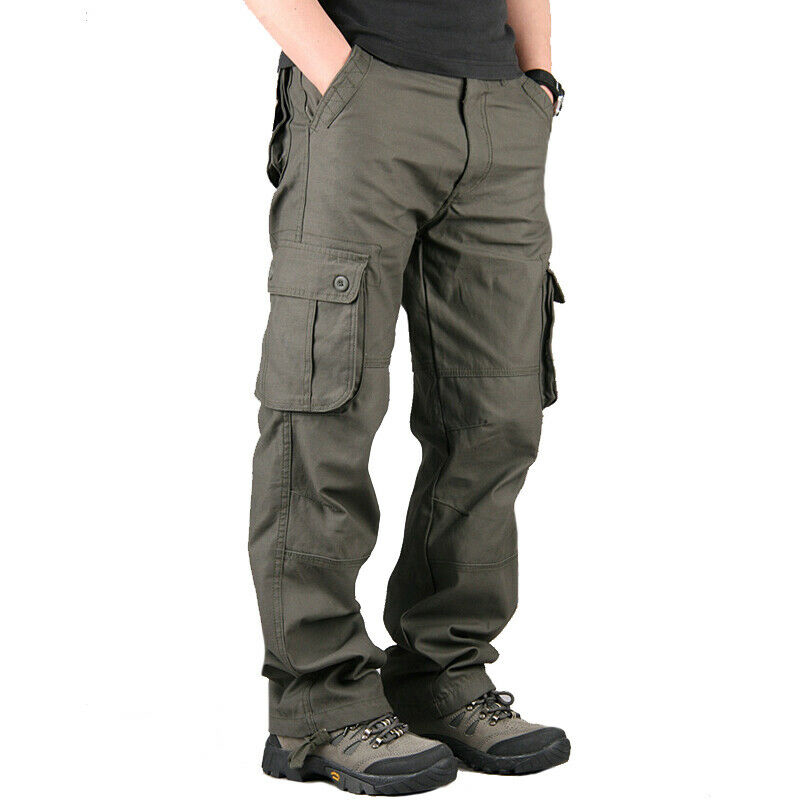 Мужские брюки карго, повседневные военные брюки с несколькими карманами, большие размеры, Мужская одежда, длинные брюки для мужчин, мужские