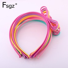 Kid Bowknot Hairband For Candy Color Plastic Hair Bow Girls Hollow Out Knot Hairbands Cute Baby Holiday Gifts