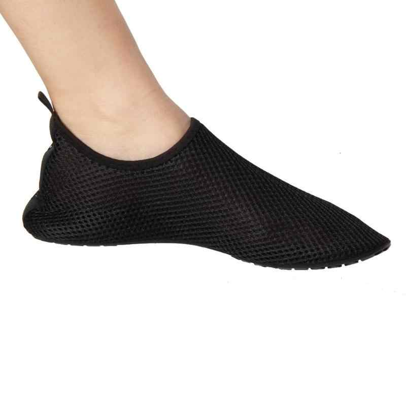 1 par al aire libre sandalias de malla para los hombres y las mujeres plana zapatillas bamboleo playa piscina zapatos de aleta sapato femenino de verano transpirable zapatos de playa