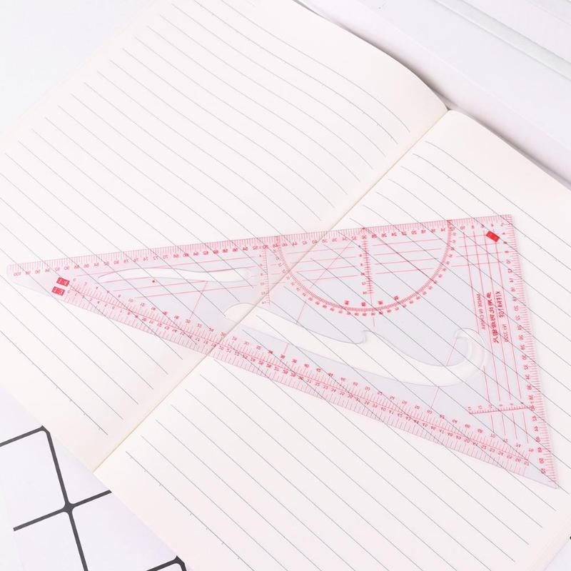 DIY Clothing Drawing Plate Making Ruler Costume Sewing Tools Patchwork Ruler Stationery High Accuracy Multifunction Hand Tool