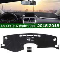 Autoleader for LEXUS NX200T 300H 2015-2018 Black Car Dashmat Dashboard Mat   Auto   Felt Fabric Dash Board Cover Pad For Left Drive
