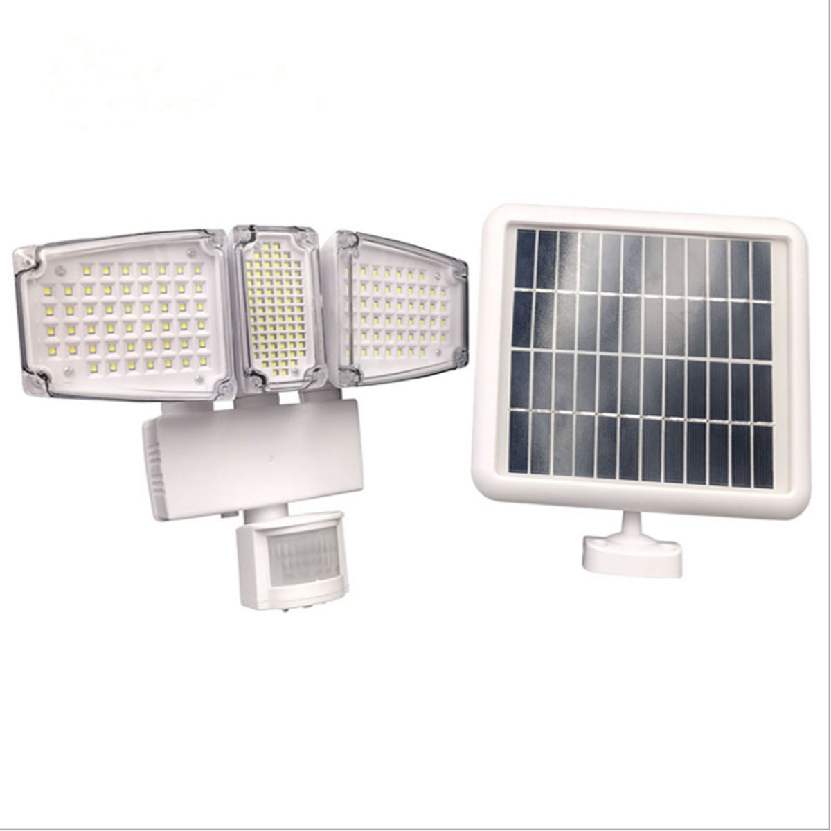 Solar Powered 178 LED Flood Light PIR Motion Sensor Activated Triple Head 1000Lms Solar Lamp Outdoor