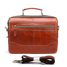 Men Genuine Leather Briefcase Messenger Laptop Pack Business Bags For Document Shoulder Handbags Computer Pocket Bolsa Masculina