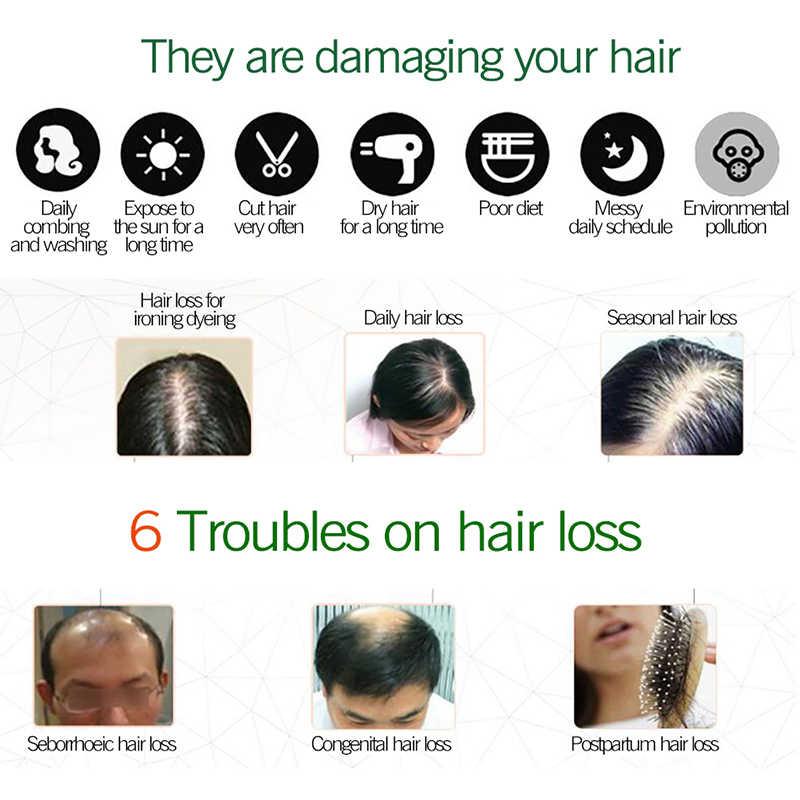 生姜育毛エッセンス 7 日理髪毛マスク毛エッセンシャルオイルのためのケアオイルドライと破損毛栄養液体